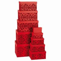 GIFT BOX SET OF 10 RED