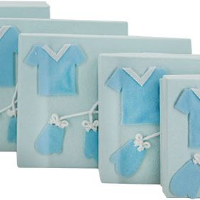GIFT BOX ET OF 5 BLUE