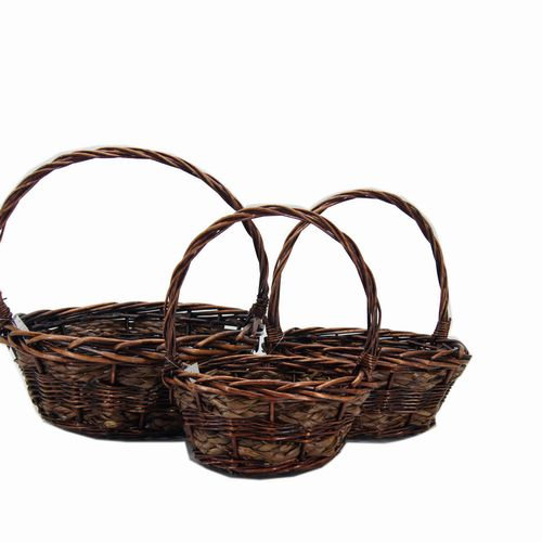 Brown Basket Set 3 Round