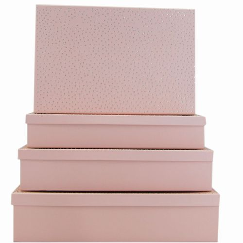 Box Set 4 W/Diamond - Pink