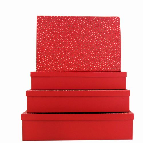 Box Set 4 W/Diamond - Red