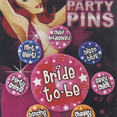 Bachelorette Party Pins 8 pcs
