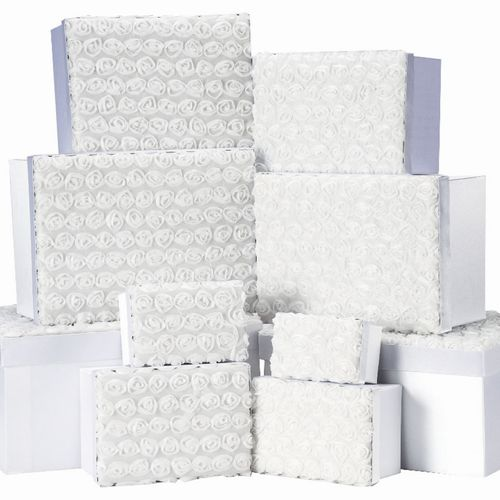 GIFT BOX ET OF 10 WHITE