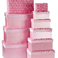GIFT BOX ET OF 10 PINK