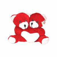 Twin teddy with heart