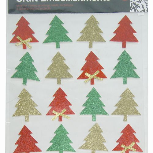 Christmas Glitter Stickers Assorted