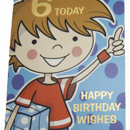Happy Birthday 6 Years Greeting Cards (6)