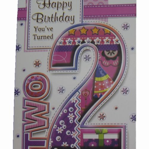 Happy Birthday 2 Years Greeting Cards (5)