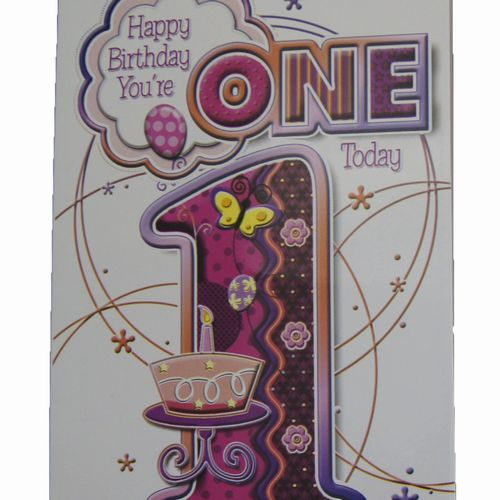 Happy Birthday 1 Year Greeting Cards (5)