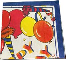 PARTY SERVIETTES (20) (16.5cm x 16.5cm)